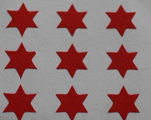 150 Etiquetas, 10 mm forma de estrella, Red, AUTO-adhesivo pegatinas, formas Minilabel