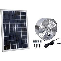 ECO-WORTHY Ventilador solar de 65W 3000 CFM con panel solar fotovoltaico policristalino de 25W para su casa, Gabel Vent, garaje o RV