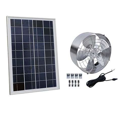 ECO-WORTHY - Panel solar con ventilador de 25W, L07P25-SV65-1