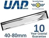 30,48 cm Slimline UPVC (para puertas 40-80mm con texto en inglés) con un espejo pulido tapa y negro - diseñado para zonas costaneras