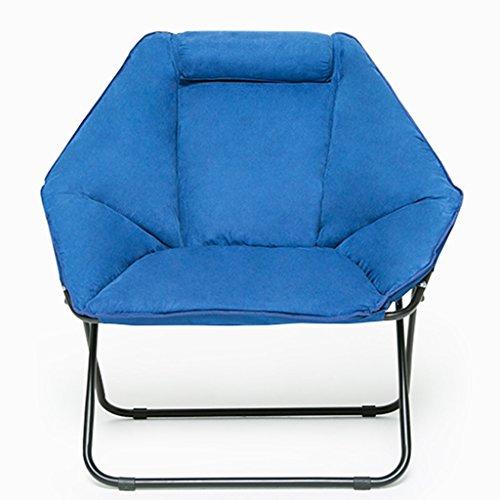 Blue Moon Stuhl Kreative Lazy Suede Stoff Folding Sun Liegestühle Waschbar Einzigen Recliners Sofa...