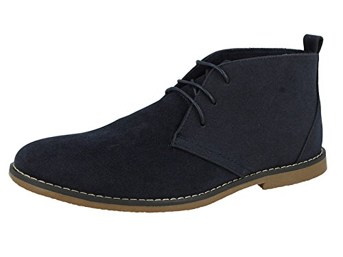 Directional Footwear Mens Faux Suede Lace up Flat Desert Chelsea Ankle Boots Size 6-12