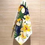 Toalla de bañoDos paquetes de Alpaca de dibujos animados hermosa toalla de algodón toalla de almohada, impresión de terciopelo corte activo adultos gruesos, suaves y absorbentes., Tucán, 72x138cm