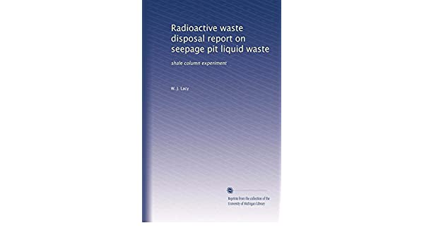 Amazon in: Buy Radioactive waste disposal report on seepage