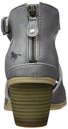 Mustang 1221-810-2, Sandales  Femme Gris (2 Grau)