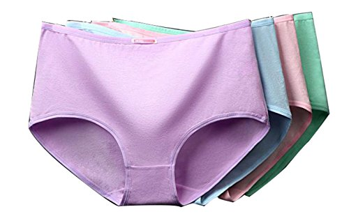 LZHA Women's Soft Brief Pantie Girl Shorts Boxer Brief Panties Underwear Cotton Stretch Bikini Panty, 10-Pack