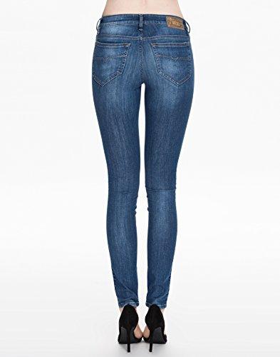 Diesel Damen Jeans Hose Skinny Skinzee 0826F Schwarz Denim Blau