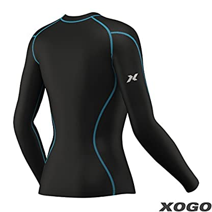 XOGO Womens Compression Base layers for All Season - Long Sleeve Compression Tops and Legging – Sports Base layers for Women - For Running, Cycling and Yoga – UV Sun Protection and 4 Way Stretch 4
