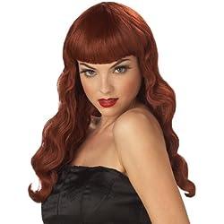 California Costume Uno-Tamaño: Tamaño modela las pelucas de Halloween Pin Up Girl (rojo) Adulto peluca Girl (rojo) Adultos (japón importación)