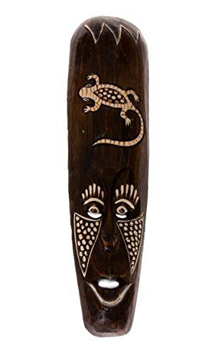 50 cm máscara decorativa diseño con África Gecko marrón HM5000017