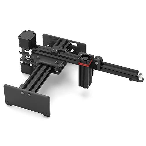 Baugger Grabador láser de escritorio de 20 W Grabado portátil Máquina de talla Mini Carver DIY Impresora de marca de logotipo láser para grabado de metal y grabado de madera profunda y corte rápido