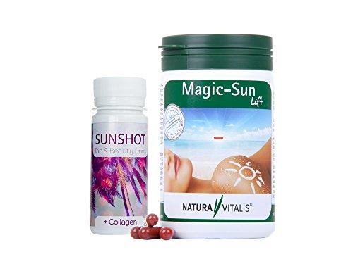 *Neu* Natura Vitalis Magic Sun Lift 240 Kapseln (129g) + Sun-Shot (Tan-Shot) (60 ml)