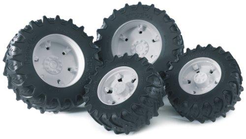 Bruder 03301 - Zwillingsbereifung mit weissen Felgen für die Traktor Serie 03000 -