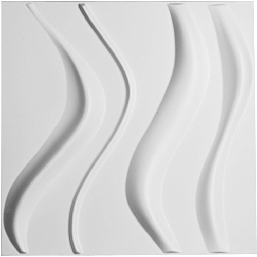 ekena Millwork WP20X 20wvwh 195/20,3cm W x 195/20,3cm H Wave endurawall Deko 3D Wandpaneel, weiß