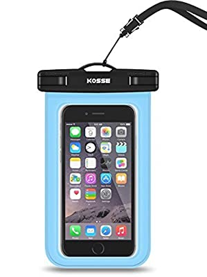 "Universal Waterproof Case, Kosse CellPhone Dry Bag Pouch for iPhone 7 6S 6,6S Plus, SE 5S, Samsung Galaxy S7, S6 Note 7 5 4, HTC LG Sony Nokia Motorola up to 6.0"" diagonal by Kosse"