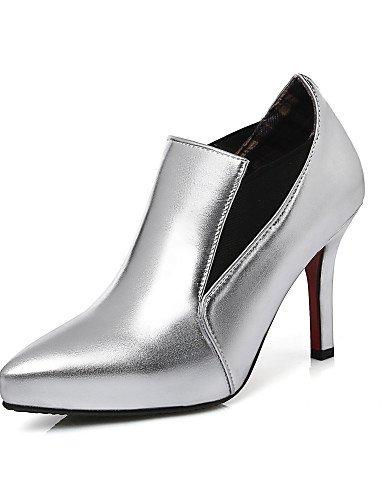 WSS 2016 Chaussures Femme-Habillé / Soirée & Evénement-Rouge / Argent / Or / Champagne-Talon Aiguille-Talons / Bout Pointu-Talons-Similicuir silver-us8.5 / eu39 / uk6.5 / cn40