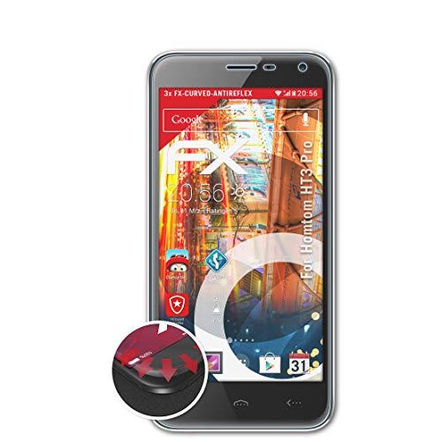 atFolix Schutzfolie passend für Homtom HT3 Pro Folie, entspiegelnde & Flexible FX Bildschirmschutzfolie (3X)