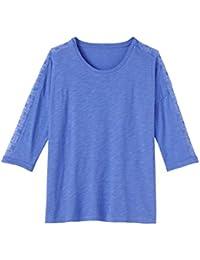 Balsamik - Tee-shirt en maille flammée avec résille brodée - femme