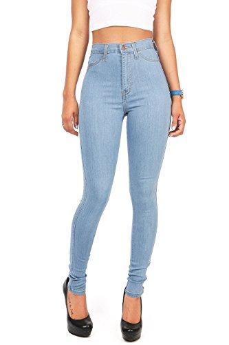 Gemijacka Damen High Waist Skinny Dünn Jeans -