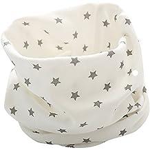 feb0d42a8b9 Longra Echarpe Bébé Garçons Filles Automne Hiver Coton Imprimé Uni O Anneau  Écharpe Neck Doux Chaud
