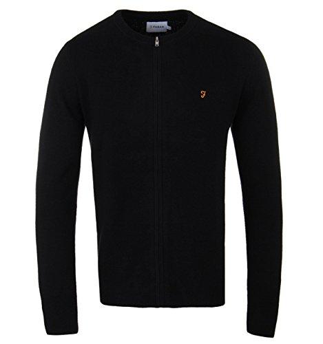 Farah Palgrave Black Zip Through Sweater