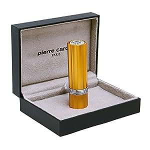 Briquet Lipstick Swarovski Pierre Cardin doré