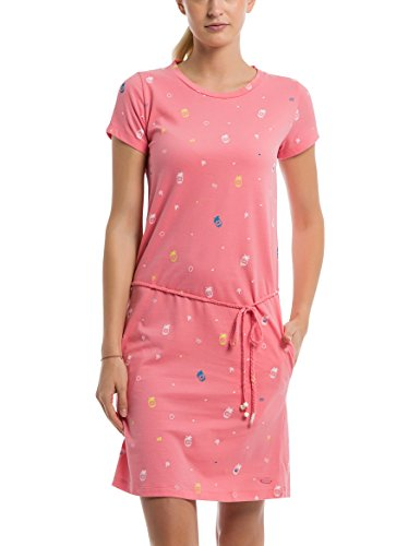 Bench Damen Printed Jersey Dress Kleid, Rosa (Pineapple Minimal with Pop. St P1457), X-Small (Herstellergröße: XS) Pop Kleid