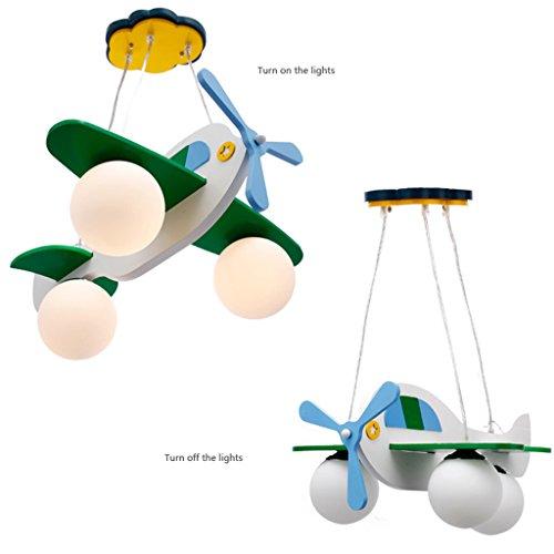 Guo Kinderzimmer-Lichter Jungen-Raum-Flugzeug-Lichter Kronleuchter-Pers5onlichkeit-kreative Eisen-Lampen E27 Lampen-Hafen - 6