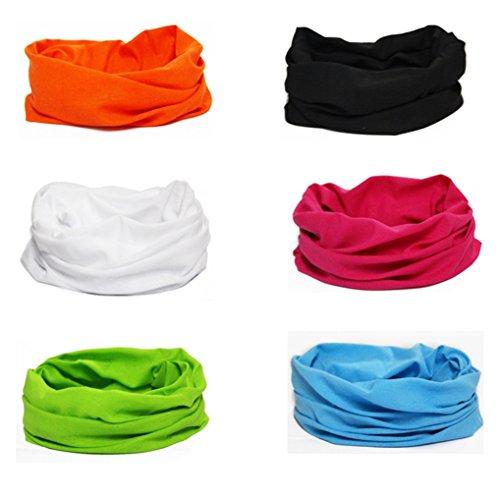 Dauco donne/uomo copricapo multifunzione fascia bandana sciarpa di riciclaggio della bici del collo maschera di protezione colorate, multiuso fascia bandana scaldacollo foulard, sports scaldacollo
