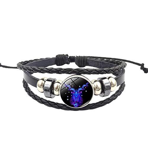 UINGKID Damen-Armband Charm Kreative Stilvolle Mode Frauen Sternbild Sternzeichen Anhänger Mehrschichtige Handgemachte L - Stilvolle Blu-ray