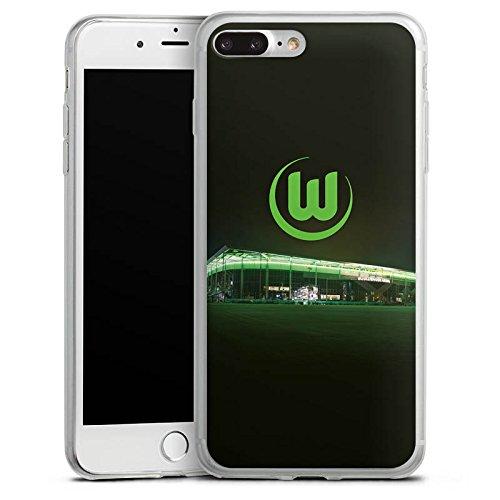 Apple iPhone 8 Plus Slim Case Silikon Hülle Schutzhülle Vfl Wolfsburg Fanartikel Fußball Silikon Slim Case transparent