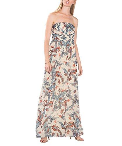 ESPRIT Collection Damen 076EO1E015 Kleid, Mehrfarbig (OFF WHITE 2 111), 40