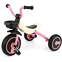 GOSFUN Triciclo con Función Plegable para Niños de 2-5 Años, Triciclo Evolutivo,