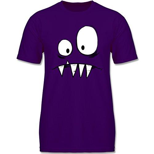 Kinder - Monster Gesicht Kostüm 2-164 (14-15 Jahre) - Lila - F140K - Jungen T-Shirt (Bestien Kostüme)
