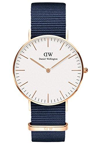 Daniel Wellington Unisex Adult Analogue Quartz Watch with Textile Strap DW00100279