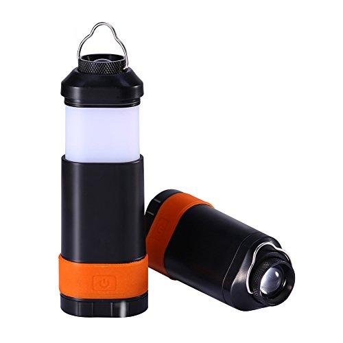 Camping Laterne Tragbare Handbatteriebetriebene Laterne Mini 3W 150 Lumen LED-Lampe Taktische Taschenlampe Collapsible Hängen Dreieck für Outdoor Überleben, Wandern, Camping, Caving,Notstrom