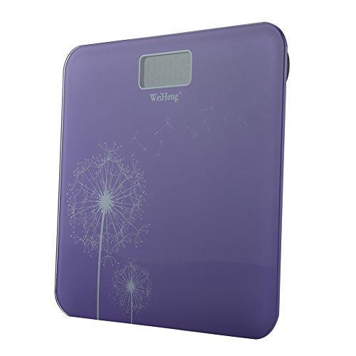 Pèse-Personne numérique, écran LCD à rétroéclairage en Verre trempé Weiheng(Purple)