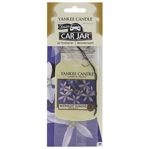 YANKEE CANDLE Stick Profumo Auto con Fragranza Gelsomino di Mezzanotte, Giallo, 7.8x19.7x1.0 cm