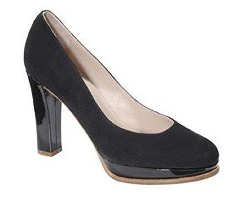 High heels de david braun en cuir noir Nero (nero)