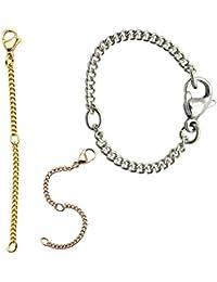 Kettchen Verlängerung verlängerungskette halskette kette armband collier rosegold gold silber 8 cm lang