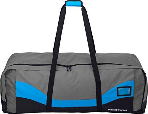 Berger Zelttasche Packtasche für Zelte oder Gestänge grau/blau, 110x40x40 cm