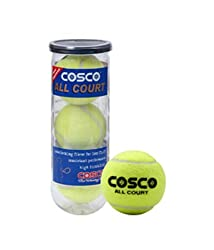 Cosco All Court Tennis Ball, Pack of 3
