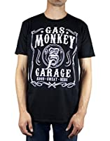 Celebrate one of the greatest reality shows on TV with the awesome Gas Monkey Garage Flourish T Shirt in Black. You're certain to go bananas for it! This unisex regular fit t shirt is sure to appeal to fans of the iconic Discovery show. Featuring an ...