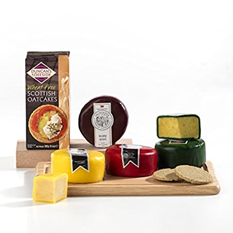 A Rainbow of Cheeses Snowdonia Cheeseboard Gift Hamper Box- FREE UK delivery