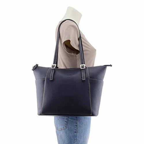 Style de sac en cuir panier Marine