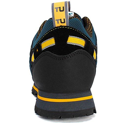 MatchLife Homme Camouflage Imperméable Sports Hautes Chaussure Noir-Style1