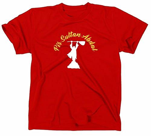 #1 Pir Sultan Abdal Logo T Shirt, Pirsultan Alevi Derwisch Aleviten Sufi Sufismus, XL, red