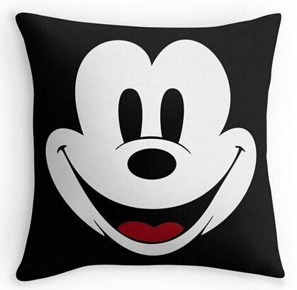 Alexander Cute Mickey Mouse Cool Case Kissen Bezüge zwei Größe Seide Kissenbezüge Cartoon geeignet Bezug, 18x18inch (Cartoon-kissenbezüge)