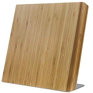 Coninx Magnetischer Messerhalter mit starkem Magnet - Bambus Holz Magnetischer Messerschutz Halter, Organizer Block ohne Messer