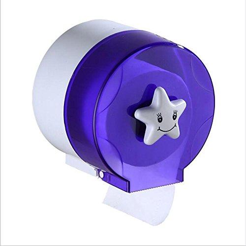 MEI Wc Tissue-Boxen müssen Nicht gelocht Werden WC-Wand Papierrolle kreative Wasserdichte Bad Handtuchhalter (gelb, blau, lila, grau, 15,8 * 13,5 * 14,4 mm) Toilettenpapierhalter (Farbe : Lila)